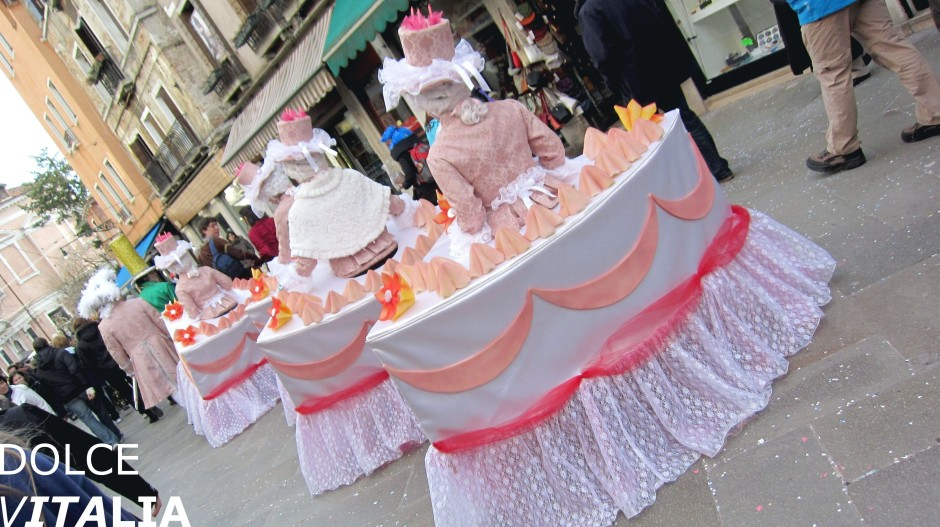 Venezia cakes during the famous carnival