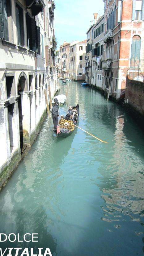 Canal of Venezia with gondola