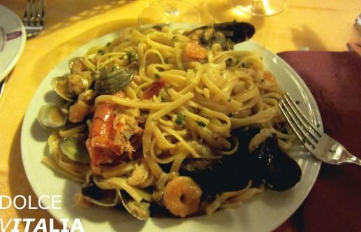 Delicious Italian pasta from Venice
