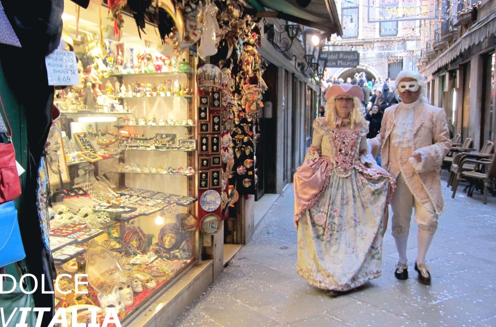 Venice street during annual famous carnival