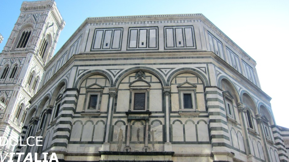Baptistery located in Piazza del Duomo and Giotto's Bell Tower
