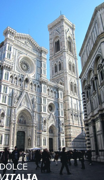 Florence cathedral and a part of Baptistery