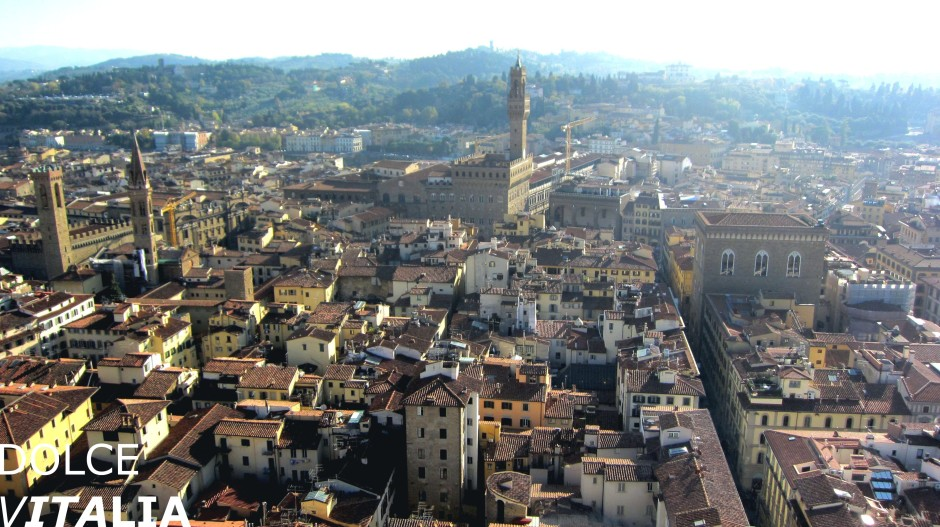View from the Duomo to Palazzo Vecchio