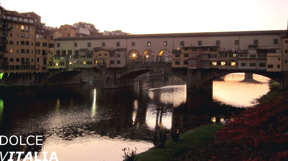 Ponte Vecchio during sunset