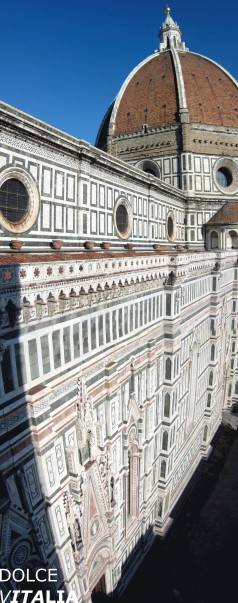 "Florence's Cathedral, the Duomo Stitch. The organization of the cupola brickwork according to the ""spina pesca"" (fish bone) pattern. (Brunelleschi's concept)"