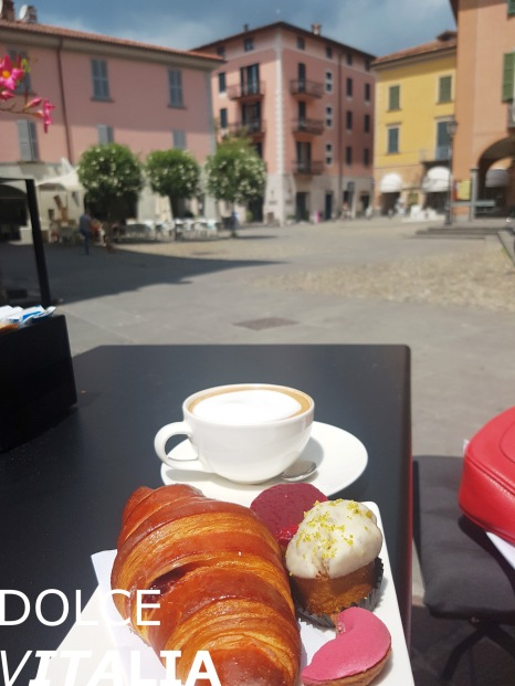 A view to Piazza Statuto from Nazzari, Patisserie Chocolaterie